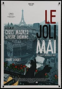 9g767 LE JOLI MAI 1sh R2013 Chris Marker, great artwork of Paris & cats by Jean-Philippe Stassen!