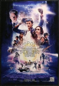 9g849 READY PLAYER ONE advance DS 1sh 2018 montage of stars, Steven Spielberg directed!