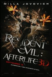 9g854 RESIDENT EVIL: AFTERLIFE teaser 1sh 2010 sexy Milla Jovovich returns in 3-D!