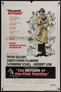 9g862 RETURN OF THE PINK PANTHER style B 1sh 1975 Peter Sellers as Inspector Jacques Clouseau!