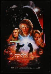 9g864 REVENGE OF THE SITH style B DS 1sh 2005 Star Wars Episode III, cool artwork by Drew Struzan!