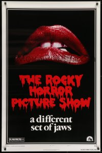 9g867 ROCKY HORROR PICTURE SHOW style A 1sh R1980s classic lips, a different set of jaws!