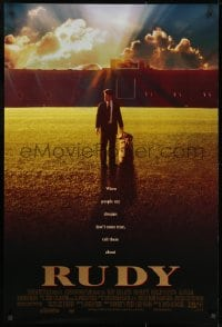 9g873 RUDY 1sh 1993 Sean Astin on field gets to play Notre Dame football!