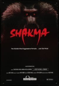 9g880 SHAKMA 1sh 1990 the world's most aggressive killer baboon primate... just got mad!