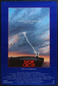 9g887 SHORT CIRCUIT 1sh 1986 cool artwork of Johnny Five being struck by lightning by John Alvin!