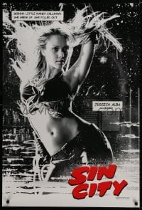9g892 SIN CITY teaser DS 1sh 2005 Frank Miller comic, b/w image of sexy Jessica Alba as Nancy!