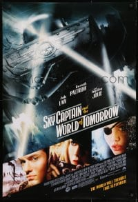 9g896 SKY CAPTAIN & THE WORLD OF TOMORROW advance DS 1sh 2004 Jude Law, Gwyneth Paltrow, Jolie!