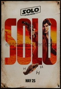 9g907 SOLO teaser DS 1sh 2018 A Star Wars Story, Ron Howard, Alden Ehrenreich in the title role!