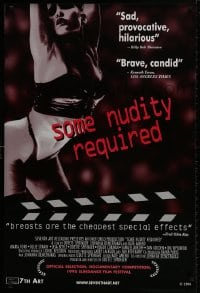 9g909 SOME NUDITY REQUIRED 1sh 1998 sexploitation documentary, Roger Corman, sexy bondage girl!