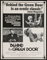 9g226 BEHIND THE GREEN DOOR 17x22 special poster 1972 Mitchell Bros., Marilyn Chambers, cast style!