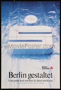 9g340 BERLINER SPARKASSE Gestaltet Style 14x21 German Advertising Poster  1990s Cool Design!