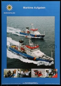 9g230 BUNDESPOLIZEI maritime aufgaben style 17x24 German special poster 2000s police officers!