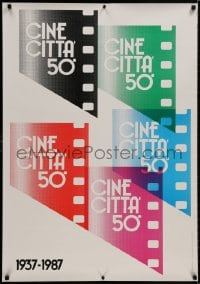 9g233 CINECITTA 28x40 Italian special poster 1987 really cool Hilde Micheli art of film!