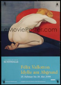 9g165 FELIX VALLOTTON IDYLLE AM ABGRUND 24x33 German museum/art exhibition 2008 great art!