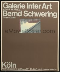 9g166 GALERIE INTER ART silkscreen 22x27 German museum/art exhibition 1973 cool art by the artist!
