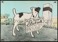 9g169 HEINZ HANDSCHICK PLAKATE 23x32 East German museum/art exhibition 1985 dog by Handschick!