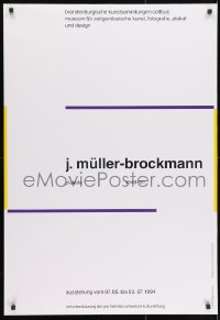 9g174 J. MULLER-BROCKMANN 27x39 German art exhibition 1994 title design over white background!