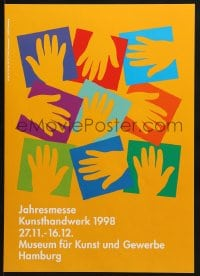 9g176 JAHRESMESSE KUNSTHANDWERKER 1988 12x17 German museum/art exhibition 1988 art of hands!