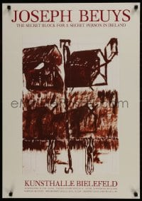 9g177 JOSEPH BEUYS 24x33 German museum/art exhibition 1988 exhibit in Bielefeld, Germany!