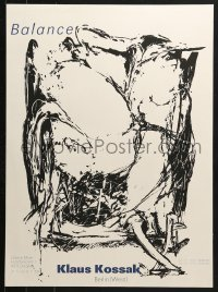 9g178 KLAUS KOSSAK 18x24 German museum/art exhibition 1990 wild art by the artist!
