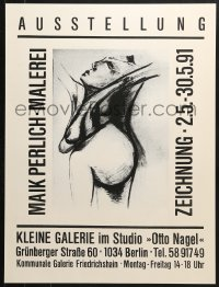 9g185 MAIK PERLICH - MALEREI 19x26 German museum/art exhibition 1991 wild art by the artist!