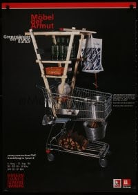 9g188 MOBEL DER ARMUT 24x33 German museum/art exhibition 1995 completely different shopping cart!