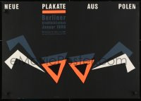 9g193 NEUE PLAKATE AUS POLEN signed 23x32 East German silkscreen art exhibition 1989 by Hubert Riedel!