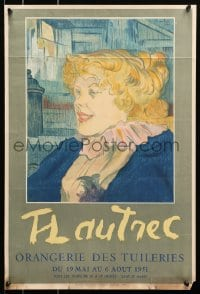 9g194 ORANGERIE DES TUILERIES 17x25 French museum/art exhibition 1951 Henri de Toulouse-Lautrec!