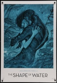 9g302 SHAPE OF WATER heavy stock 27x40 special poster 2017 Guillermo del Toro, James Jean art, rare!