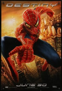 9g912 SPIDER-MAN 2 teaser 1sh 2004 great image of Tobey Maguire in the title role, Destiny!