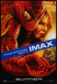 9g911 SPIDER-MAN 2 IMAX teaser DS 1sh 2004 close-up image of Tobey Maguire & Kirsten Dunst!