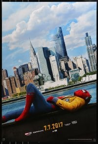 9g914 SPIDER-MAN: HOMECOMING teaser DS 1sh 2017 Holland in the title role, New York City skyline!