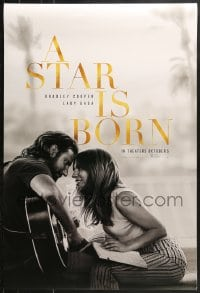9g917 STAR IS BORN teaser DS 1sh 2018 Bradley Cooper stars and directs, romantic image w/Lady Gaga!