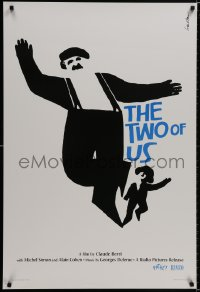 9g970 TWO OF US 1sh R2005 wonderful art of Michel Simon & young Jewish boy by Saul Bass!