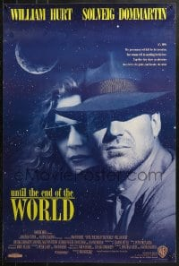 9g973 UNTIL THE END OF THE WORLD int'l advance 1sh 1991 Wim Wenders, William Hurt, Solveig Dommartin