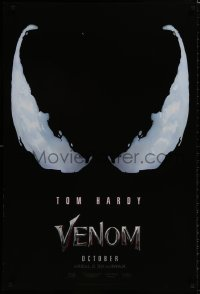 9g975 VENOM teaser DS 1sh 2018 Tom Hardy in the title role, Tom Holland as Spider-Man, logo!