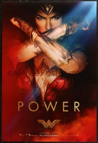 9g990 WONDER WOMAN teaser DS 1sh 2017 sexiest Gal Gadot in title role/Diana Prince, Power!