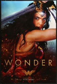 9g991 WONDER WOMAN teaser DS 1sh 2017 sexiest Gal Gadot in title role/Diana Prince, Wonder!