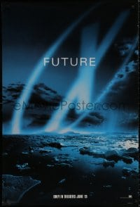 9g993 X-FILES style B teaser DS 1sh 1998 David Duchovny, Gillian Anderson, Fight the Future!