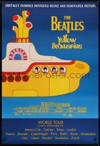9g996 YELLOW SUBMARINE advance DS 1sh R1999 psychedelic art of Beatles John, Paul, Ringo & George!
