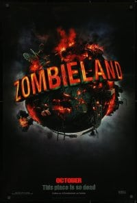 9g999 ZOMBIELAND teaser 1sh 2009 Harrelson, Eisenberg, this place is so dead, wild image of Earth!