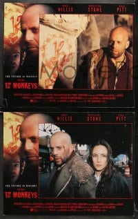 9k036 12 MONKEYS 8 LCs 1995 Bruce Willis, Brad Pitt, Stowe, Terry Gilliam directed sci-fi!