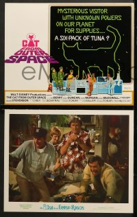 9k024 CAT FROM OUTER SPACE 9 LCs 1978 Disney, men in bar watch Sandy Duncan shoot pool blindfolded!