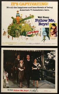 9k028 FOLLOW ME BOYS 9 LCs R1976 Fred MacMurray leads Boy Scouts, young Kurt Russell, Walt Disney!