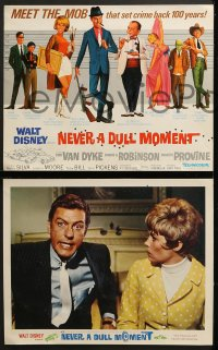 9k032 NEVER A DULL MOMENT 9 LCs 1968 Disney, Dick Van Dyke, Edward G. Robinson, Dorothy Provine!