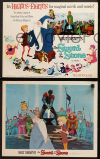 9k034 SWORD IN THE STONE 9 LCs 1964 Disney's cartoon story of young King Arthur & Merlin the Wizard!