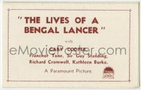 9m004 LIVES OF A BENGAL LANCER 12pg Australian herald 1935 Gary Cooper & Franchot Tone, different!