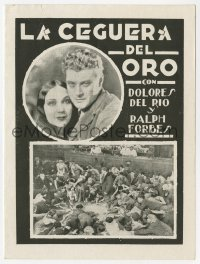 9m011 TRAIL OF '98 Uruguayan herald 1930 Dolores Del Rio, Ralph Forbes, gambler Harry Carey!