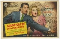 9m087 ARSENIC & OLD LACE Spanish herald 1947 great c/u of Cary Grant & Priscilla Lane, Frank Capra