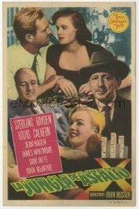 9m088 ASPHALT JUNGLE Spanish herald 1951 Marilyn Monroe, Sterling Hayden, John Huston, different!